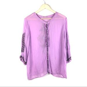 Johnny was - Button Down embroidered top